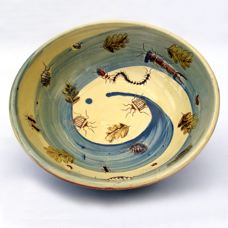 Large bowl with bugs
