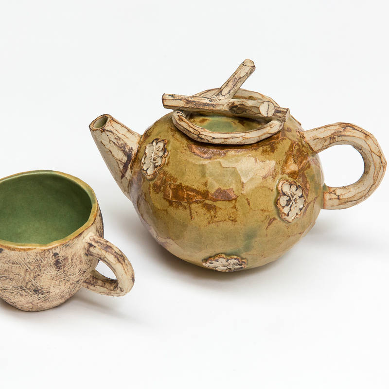 Woodland teapot and cup