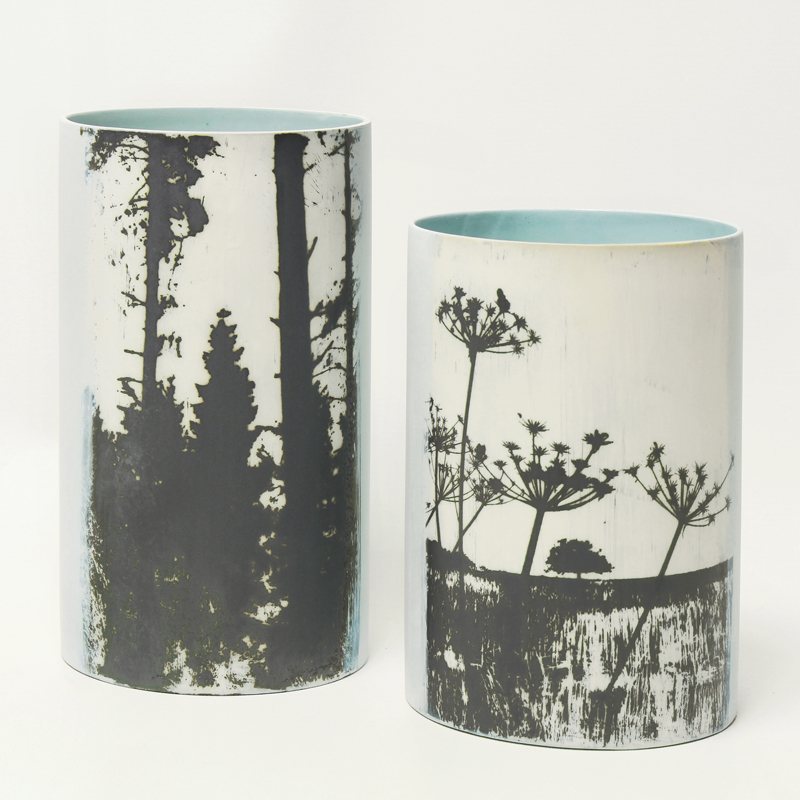 'Forest' & 'Field' tall vases