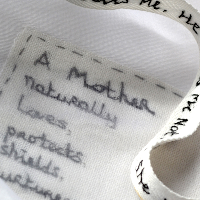 detail of Pauline Hearn's apron