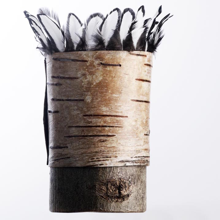 Bark and Feather Pot