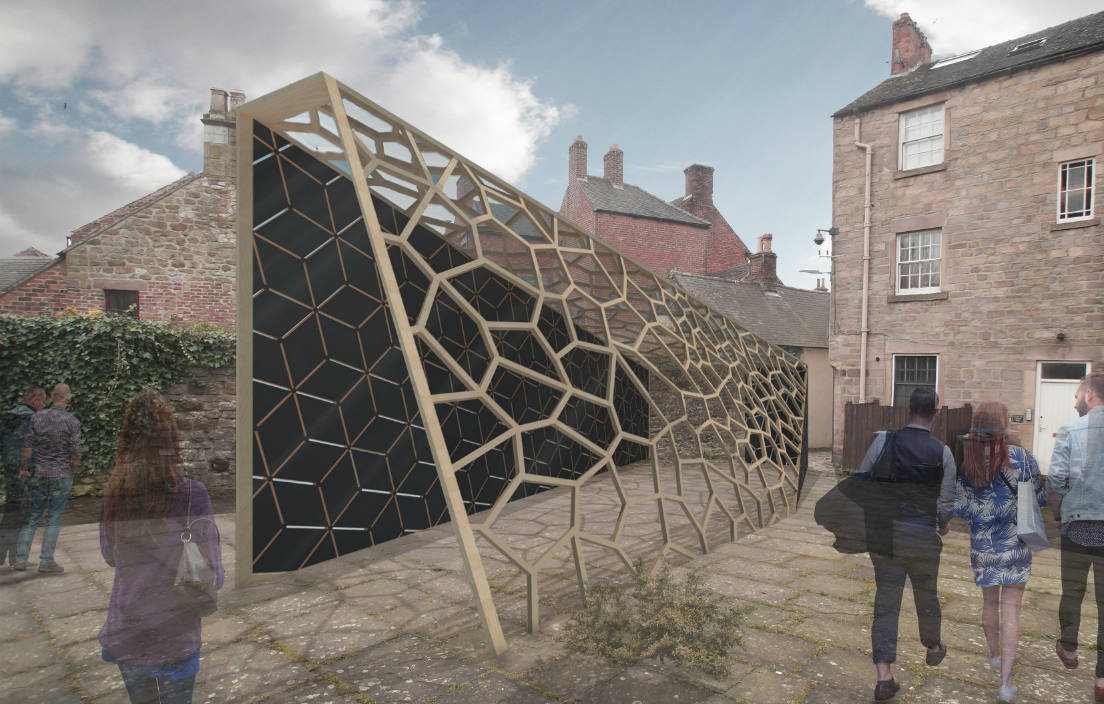 Pavilion winning design for Wirksworth Festival 2017 Nottingham Trent University Art and Architecture Trail