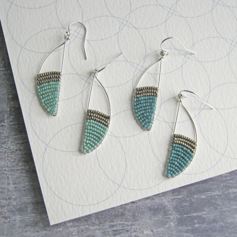 Curve Silver earrings