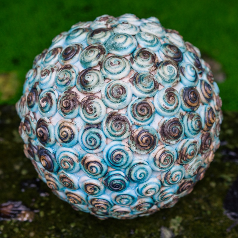 Turquoise Coiled sphere