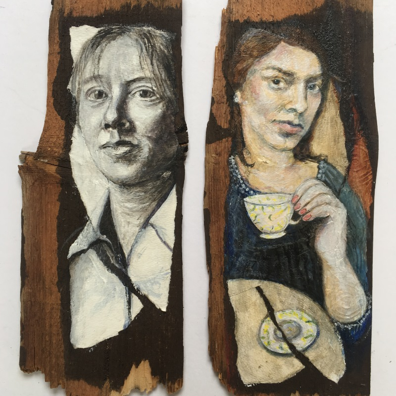 Portraits on Wood