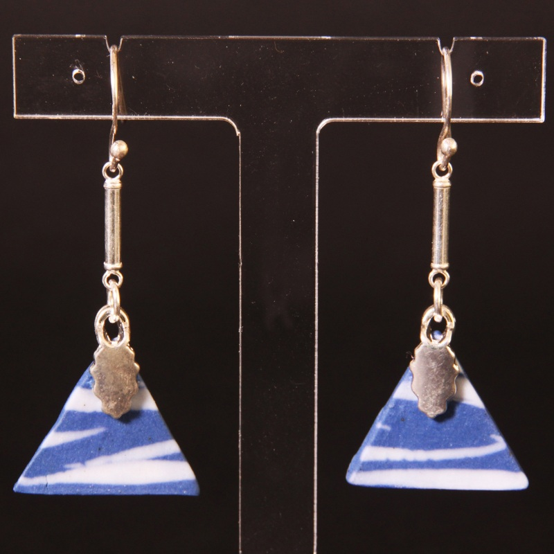 Drop earrings - triangle