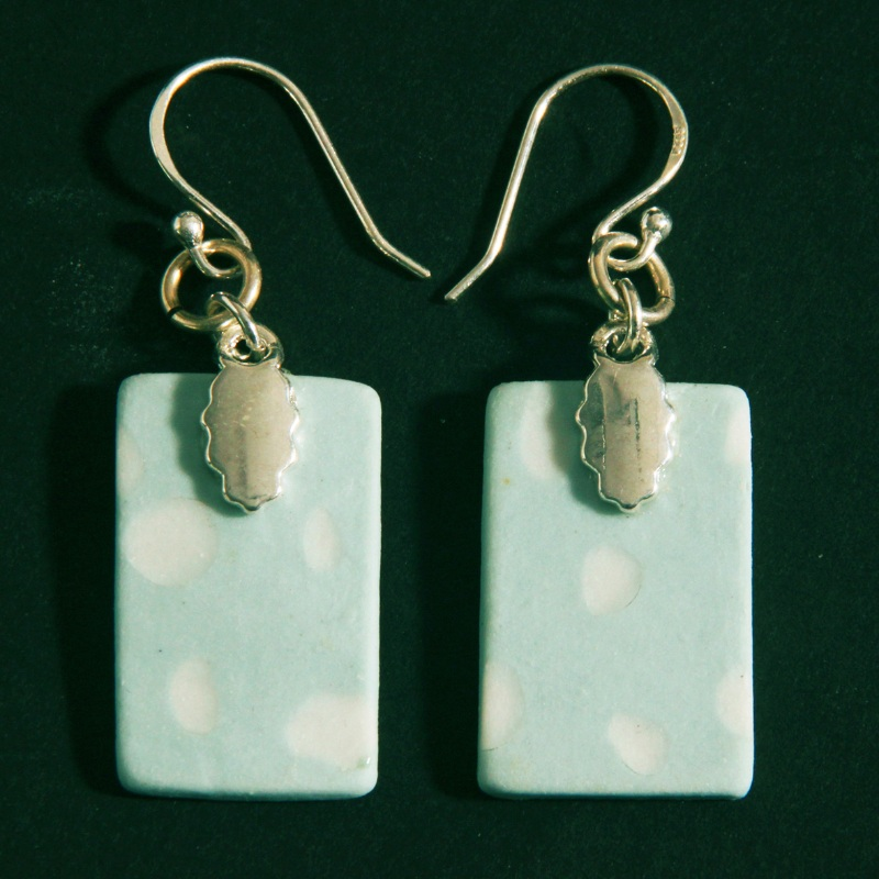 earrings - pale celadon