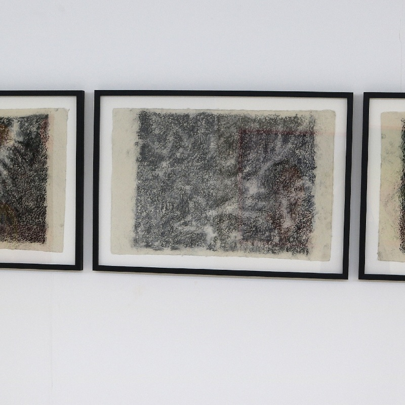 Charcoal Triptych