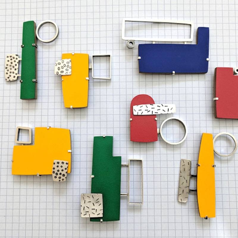 Composition Colour Brooches