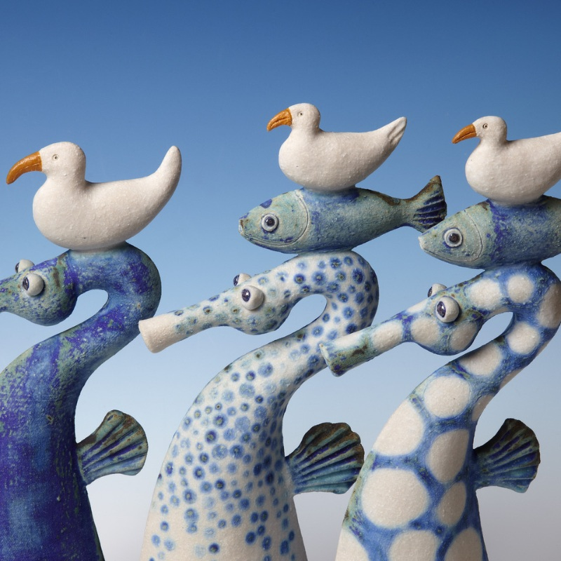 Sue Crossfield - Seahorses with fish and birds