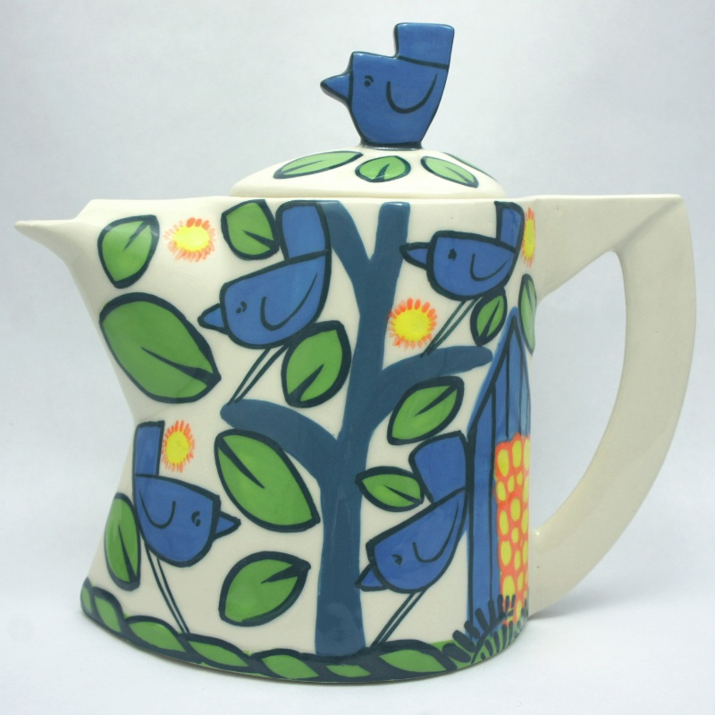 Birds small teapot