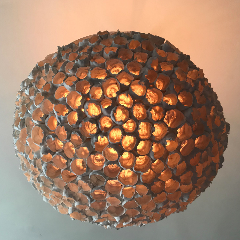 Porcelain Coral Cloud Lamp